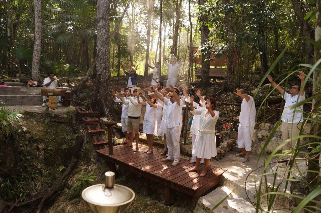 celebrar boda maya en un cenote puerto morelos