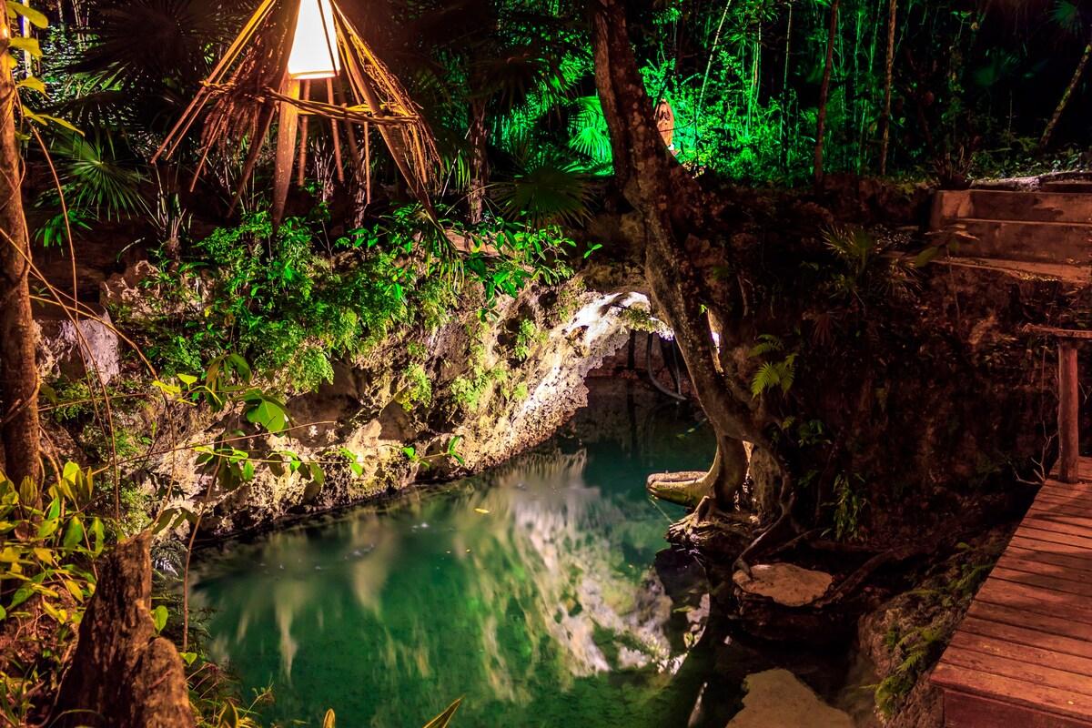 cenote privado en puerto morelos