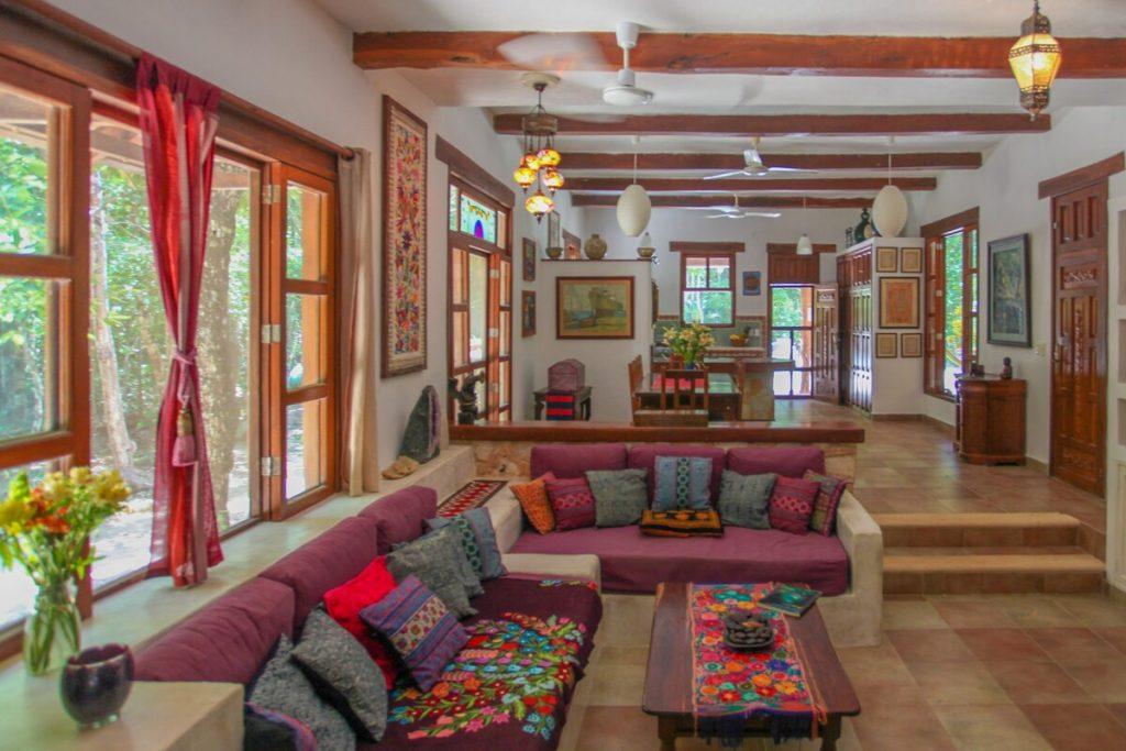 sala de estar airbnb akumal