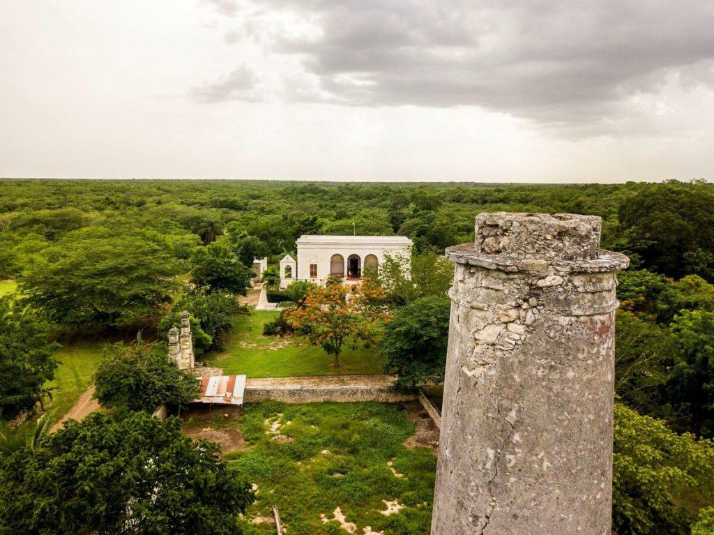 vista aerea de la hacienda