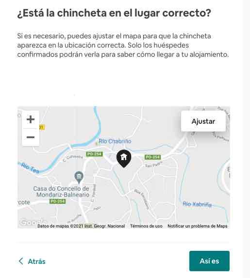 Ajustar la direccion de tu alojamiento en Airbnb sobre el mapa