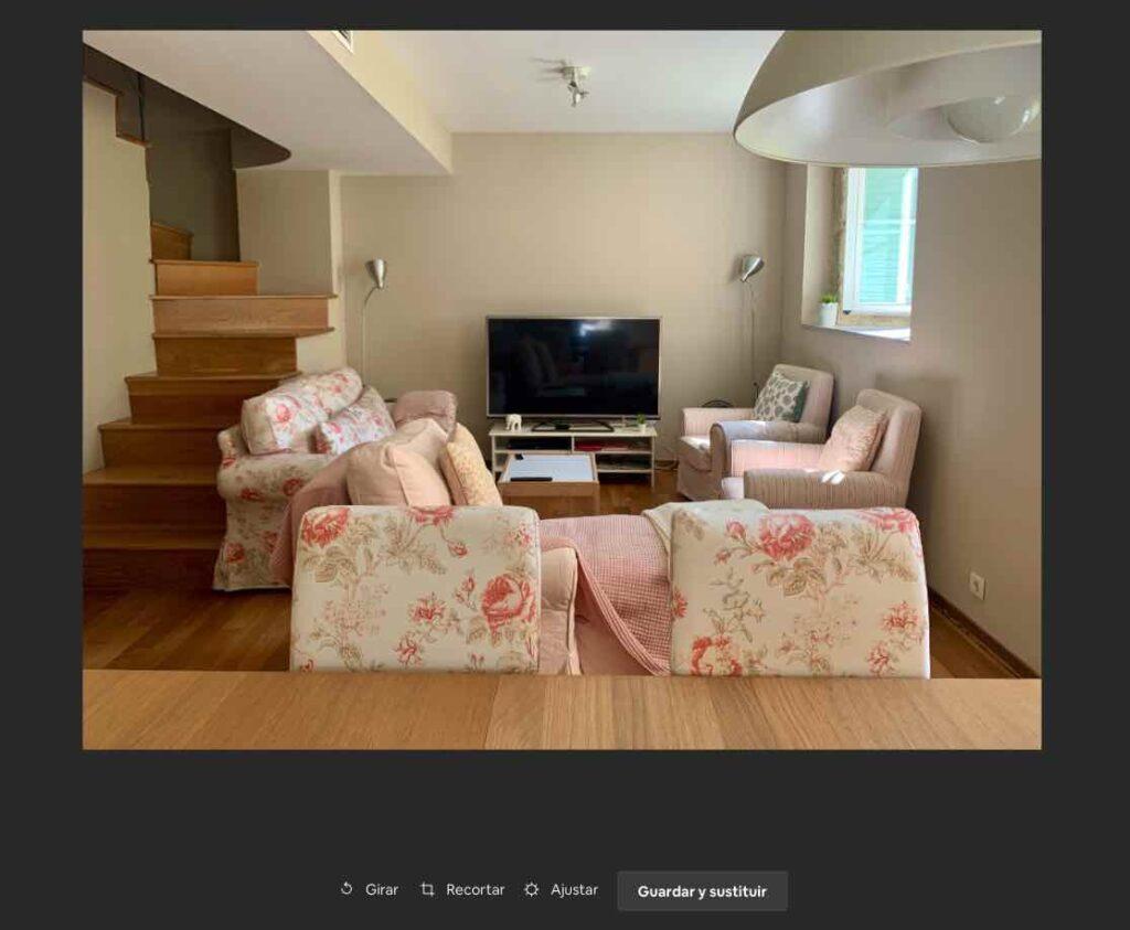 panel edicion fotos airbnb