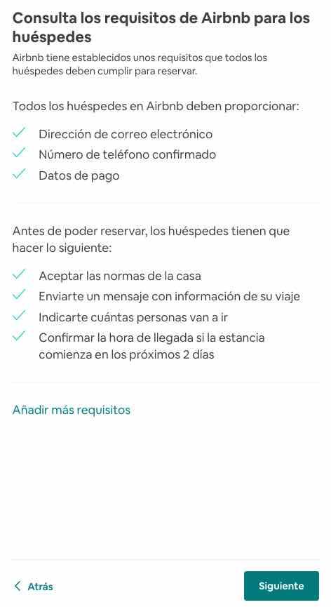 requisitos airbnb